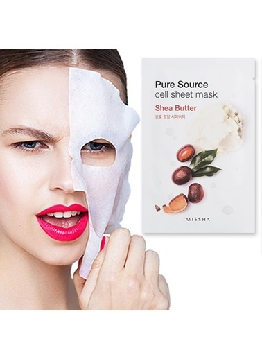 Missha Pure Source Cell Sheet Mask (Shea Butter) Renksiz